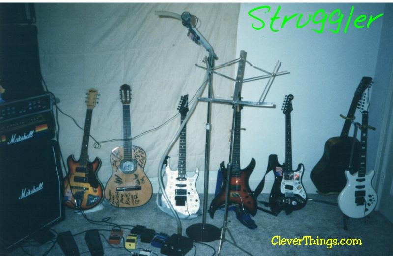 Struggler guitarist Gary Wright II guitar collection