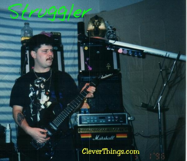 Struggler guitarist Gary Wright II plays his black Jackson guitar