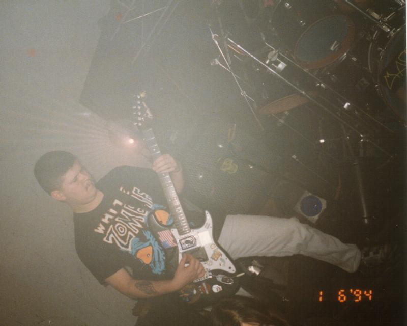 Struggler guitarist Gary Wright II plays his 1986 black Fender Stratocaster American Standard guitar
